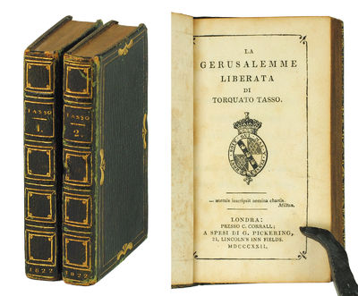 2 vols. London: William Pickering, 1822. 2 vols., 24mo., pp. , 199, ; , 204-405, , + portrait fronti...