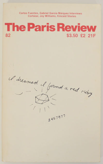 New York: Paris Review, 1981. First edition. Softcover. Features conversations with Carlos Fuentes a...