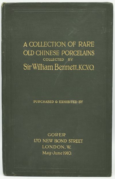 London: Gorer, 1910. Hard Cover. Very Good binding. An exhibition catalog for the Bennett collection...