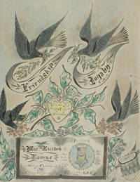 Folk Art Memorial Drawing to the 54th Massachusetts Infantry, Presented to the Ladies of the G.A.R.