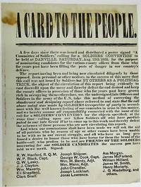 A CARD TO THE PEOPLE by [Soldiers' Convention] - 1865 - from David M. Lesser, Fine Antiquarian Books LLC (SKU: 36022)