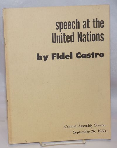 New York: Fair Play for Cuba Committee, 1960. Pamphlet. 30p., 10.75 x 8 inch staplebound wraps, cove...