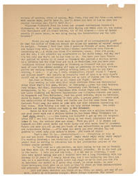 image of Typed Letter to Philip Whalen