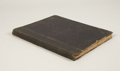 1910. Folio. Half black cloth with matching textured paper boards. With attractive illustrated title...