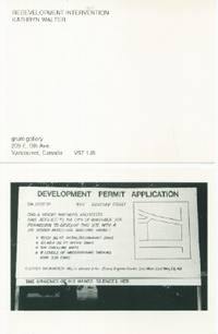 Redevelopment Intervention by  Kathryn Walter - 1989 - from Black Sheep Books (SKU: 013799)