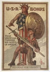 U.S.A. BONDS. Third Liberty Loan Campaign Boy Scouts of America. (Vintage Poster)