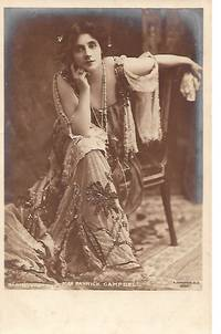 Edwardian Era Stage Actress, Miss Patrick CAMPBELL on 1910s Real Photo Postcard (RPPC)