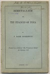 Bimetallism and the Finances of India