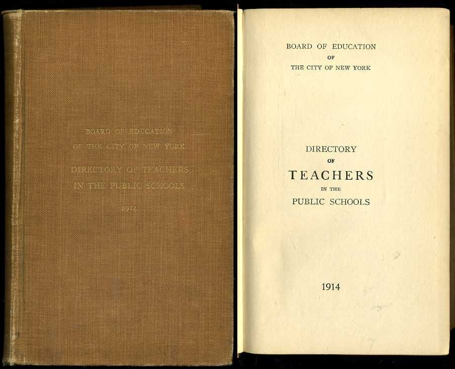 Directory Of Teachers In The Public Schools (New York City