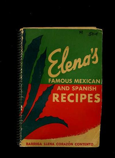 Mexican Cookbook Cover : Elena s famous mexican and spanish recipes edition
