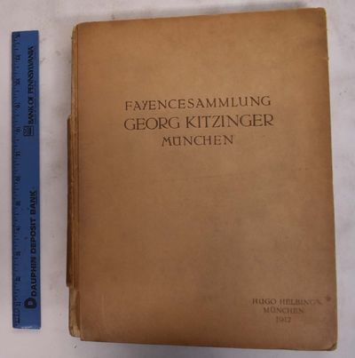 Munich, Germany: Hugo Helbing, 1912. Hardcover. Good.ex-libris w/ ink stamps to title pgs. spine mis...