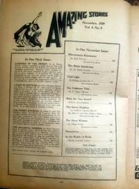 AMAZING Stories; November, Nov. 1929 by  Ph.D.; L. Taylor Han Amazing (Harl Vincent; Dr. Daniel Dressler; William Lemkin - 1929-01-01 - from Epilonian Books (SKU: 20150831005)