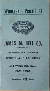 Wholesale Price List, James M. Bell. Co.