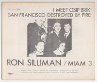 Miam 3 : Two from 2197 : I Meet Osip Brik and San Francisco Destroyed by Fire by Ron Silliman (August 1977)