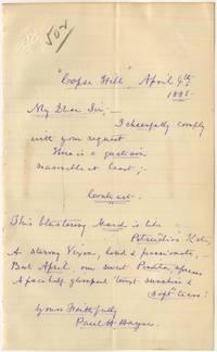 Autograph Letter Signed (Paul H. Hayne)