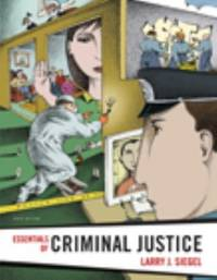 image of Essentials of Criminal Justice, Reprint