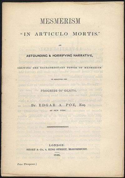 Matrimonio In Articulo Mortis : Abaa mesmerism in articulo mortis by poe edgar allen