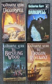 image of THE KINGDOM DEVERRY CYCLE - FIRST QUARTET.  1. DAGGERSPELL  2. DARKSPELL.  3. THE BRISTLING WOOD.  4. THE DRAGON REVENANT.  4 VOLUME SET.