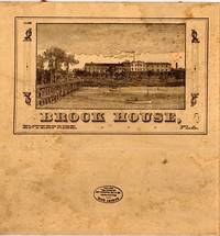 Folding carboard lunch box, titled Brock House, Enterprise, Fla. on one side, and Lunch on the other