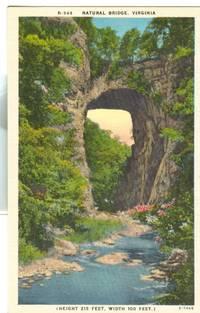 Natural Bridge, Virginia, unused linen Postcard