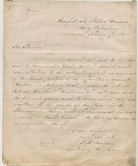 AUTOGRAPH LETTER SIGNED AS SECRETARY OF THE NAVY TO CONFEDERATE PRESIDENT JEFFERSON DAVIS, 7 FEBRUARY 1865, CONCERNING THE BATTLE OF NEW BERN AND THE GALLANT CONDUCT OF COMMANDER JOHN TAYLOR WOOD AND LIEUTENANT LOYALL