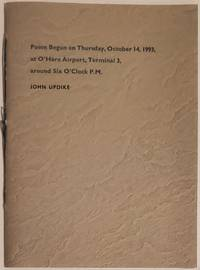 POEM BEGUN ON THURSDAY, OCTOBER 14, 1993, AT O'HARE AIRPORT, TERMINAL 3, AROUND SIX O'CLOCK P.M.