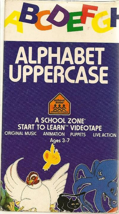Book Cover School Zone : Alphabet uppercase a school zone start to learn videotape