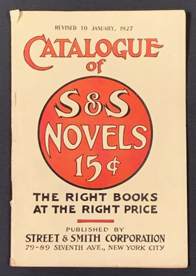 New York City: Street & Smith Corporation, 1926. 1st Printing thus (i.e., of this catalogue). Off-wh...
