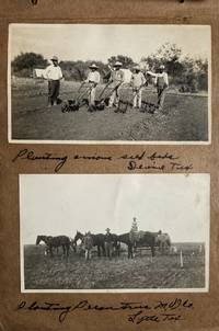 [Annotated Vernacular Photograph Album Detailing Projects of the Medina County Irrigation Company in Various Locations in Central and Southeastern Texas, and Including Numerous Images of Mexican Migrant Workers and the African-American Crew]