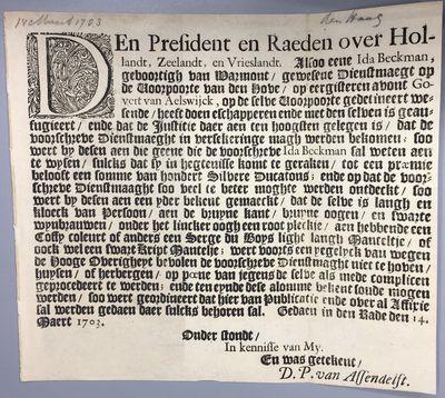 [Begins:] Den President en Raeden...