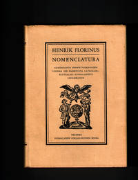 Nomenclatura: Nakoispainos Henri Florinuksen Vuonna 1678 Painetusta Latinalais-Ruotsalais-Suomalaisesta Sanakirjasta