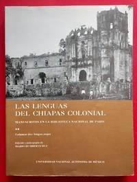 LAS LENGUAS DEL CHIAPAS COLONIAL, MANUSCRITOS EN LA BIBLIOTECA NACIONAL DE PARIS II