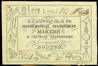 [ Ephemera, Trade cards ]  F. W. Lincoln Jr. & Co. MATHEMATICAL INSTRUMENT MAKERS & NAUTICAL STATIONERS 126 Commercial Street BOSTON
