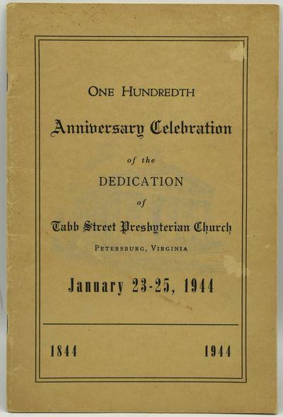 : , 1944. Stapled Pamphlet. Very Good binding. The program for the hundredth anniversary celebration...