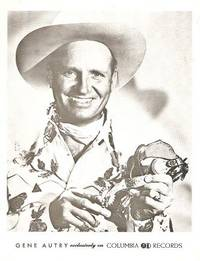 PROFESSIONAL PHOTOGRAPH  OF GENE AUTRY:; American Country & western singer, songwriter, and...