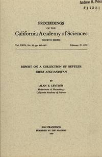 image of Report on a Collection of Reptiles from Afghanistan