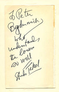 DIVISION STREET: AMERICA by  Studs Terkel - Signed First Edition - (1967) - from Quill & Brush and Biblio.com