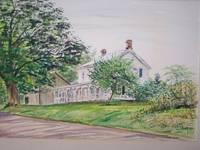 "image of Original Artwork Entitled ""Farm House, Clove Valley Road, Dutchess Co., NY"""