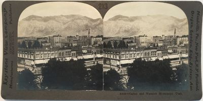 Meadville, PA: Keystone View Company, 1910. Stereoview. Silver gelatin photograph on a gray curved m...