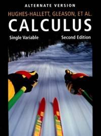 Calculus: Single Variable, Alternate Version