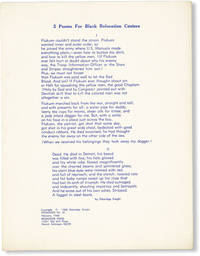 image of 2 Poems For Black Relocation Centers