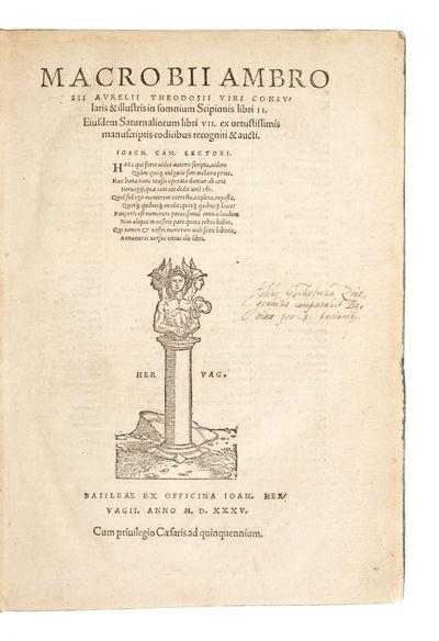 In somnium Scipionis libri II.