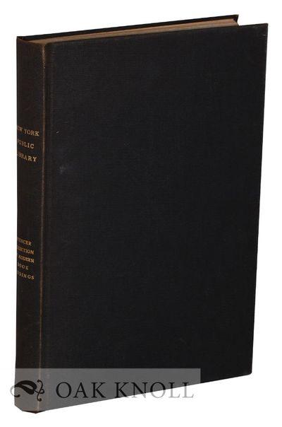 New York, NY: The New York Public Library, 1914. cloth. small 4to. cloth. variously paginated. Multi...