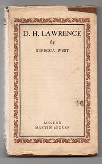 D.H. LAWRENCE by  Rebecca West  - 1st Edition  - 1930  - from Barbara Bilson Books (SKU: 001675)