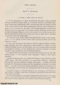 X-Rays. An original article from the Report of the Smithsonian Institution, 1897