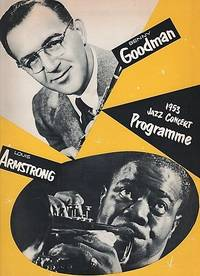 BENNY GOODMAN BAND AND TRIO - LOUIS ARMSTRONG ALL STARS - 1953 JAZZ CONCERT PROGRAMME