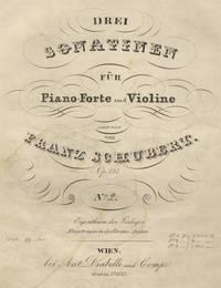 [D. 385]. Drei Sonatinen für Piano-Forte und Violine componirt ... Op. 137 ... No. 2: _ f2._ [C.M.]. [Parts]