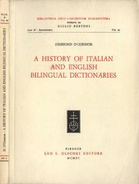 A history of italian and english bilingual dictionaries