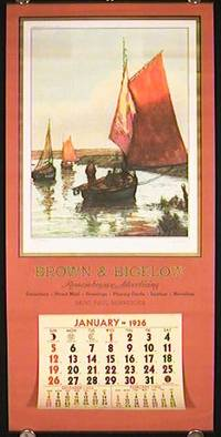1936 Calendar.  Brown & Bigelow Remembrance Advertising Calendar
