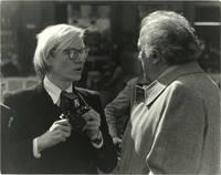 Original photograph of Andy Warhol and Federico Fellini, 1977